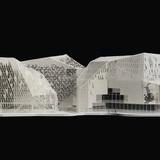 Model of Cristal Riviera entry by Périphériques Architectes, a/LTA architectes, and Hamonic&Masson. Image courtesy of a/LTA.