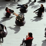Heatherwick Studios spun chairs (photo by Susan Smart).