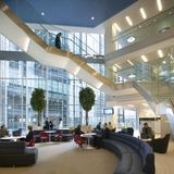KPMG's new headquarters, located at Canary Wharf, was designed by KPF.