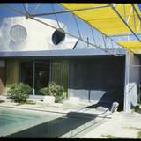 Albert Frey house in Palm Springs, from Fritz Blocks collection. Image via digitallibrary.usc.edu.