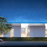 The New Norton South Dixie Highway Façade, designed by Foster + Partners. (Image courtesy of Foster + Partners)