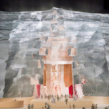 West elevation - ceremonial entrance (Image courtesy of Gehry Partners)