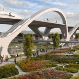 A render of the 6th St Bridge design. Credit: Michael Maltzman Architecture