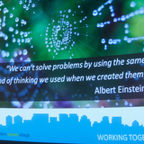 Quote by Albert Einstein provides apropos point of view to discussion of green rainwater management © CG Lawrence Photography (Gregory Clarke)