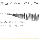 Kengo Kuma, Bamboo House. March 8, 2012, Pen on gold-trimmed card stock, 10.75 x 9.5