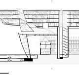 Long section. Image courtesy of Zaha Hadid Architects.