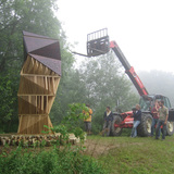 Ants of the Prairie: Bat Tower, Griffis Sculpture Park, East Otto, NY   photo: Joyce Hwang