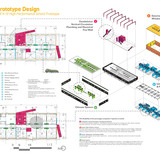 Holcim Silver Award: Zero net energy school building, Los Angeles, CA: Plans and systems diagrams.