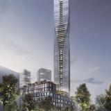 SOM and Entasis winning design, Polestar Tower, to be built in Gothenburg, Sweden. Image courtesy of SOM.