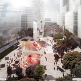 Rendering of the winning entry by Stewart Hollenstein with Colin Stewart Architects (Image courtesy of City of Sydney)