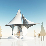 rendering of Minimal Surface Pavilion via deli