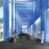 Building corridor. Image courtesy of Nadine Johnson & Associates, Inc.