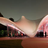 Serpentine Sackler Gallery, London, United Kingdom. Structural Designer: Arup. Photo: Arup