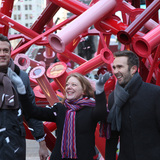 From left to right: Bryan Young of Young Projects; Sherry Dobbin, Director of Public Art for the Times Square Alliance; and David van der Leer, Executive Director of Van Alen Institute. Photo credit: Van Alen Institute
