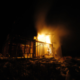 Burning house in Manitoba via Shannon