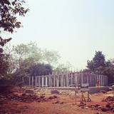 a learning center in Bhubaneswar, India, currently under construction by Anne-Sophie Rosseel