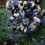 Archinects launch party for Treatise, held at the Neutra VDL House. Credit: Diana Koenigsberg