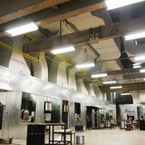 Energy-efficient furnaces inside the new UrbanGlass Studio. Photo courtesy of LEESER.