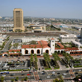Aerial shot of Los Angeles Union Station (Photo: Gary Leonard)