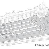 HASSELL + Herzog & de Meuron's winning entry: Eastern Concourse and Platform
