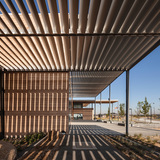 Craigieburn Library in Australia wins Public Library of the Year Award 2014: Craigieburn Library, Hume City, Victoria, Australia, designed by architect Francis-Jones Morehen Thorp. Photo courtesy Public Library of the Year Award 2014.
