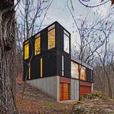 Stacked Cabin; Muscoda, WI by Johnsen Schmaling Architects (Photo: John J. Macaulay)