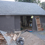 carriage house to be converted into a music studio via Brian Henry