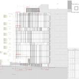 West Elevation. Image: Giovanni Vaccarini Architetti