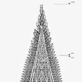 Drawing of Hello Woods Christmas tree installation. Image: Hello Wood.