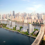 Cornell's proposed new NYC tech campus by SOM & Field Operations, with a building by Morphosis
