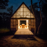 Refuge on the Bay of Fundy, Red Bank Farm, Hants County, NS, MacKay - Lyons Sweetapple Architects. Photo credit: entrant of the 2014 Wood Design Awards.
