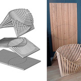 Flatpack wood folding chair by Robert van Embricqs