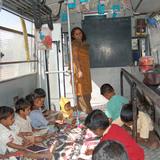 School on Wheels: Designer/implementer: Door Step School. Funders: Cummins India Pvt. Ltd. and Springer Science+Business Media Deutschland GmbH. Pune, India, 2000-present. Photo: © Vijay Gondi