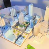 These are some of the site models that Studio Gang was bringing to Lexington for a public meeting on Thursday, June 2, 2011, to show design alternatives for the CentrePointe block. The CentrePointe block is in the middle of the rectangle; the block can be removed and replaced with one of the other...
