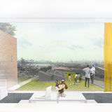 1st-prize winning proposal of the 2030 Transformation student design challenge to renew Hunts Point in the Bronx, NY. Image courtesy of Maksym Rokhmaniiko