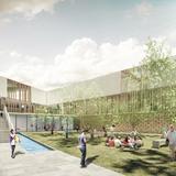 Secondary school courtyard (Image: Atelier3AM)