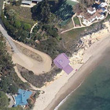 Aerial view of the Malibu site