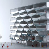 Model - Honeycomb by BIG + HKS + MDA. Image courtesy of BIG.