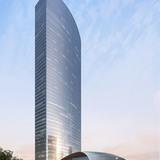 Qintai with podium (Image: Adrian Smith + Gordon Gill Architecture)