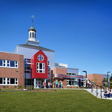 The Abbott-Downing Elementary School is located adjacent to the former Conant School site and echoes design elements from the original school building including the reuse of its signature cupola phot by Ed Wonsek