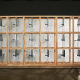 Backview of Kinetic Wall by Barkow Leibinger at the Venice Biennale 2014. Photo © Johannes Foerster