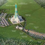 Vrindavan Chandrodaya Mandir, master plan. (Image via vcm.org.in)