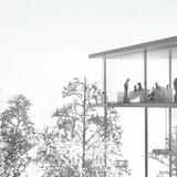 Model, above the trees (Image: jaja architects)