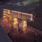 Rendering of CODA's Party Wall. Image courtesy of CODA.
