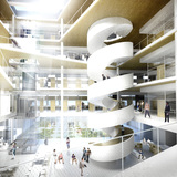 The new main building for the School of Economics and Management by Dorte Mandrup Arkitekter. Image courtesy of DMA.
