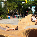 """Urban Reef"" wins Robson Redux 2014 in downtown Vancouver, Canada. Photo credit: Latreille Delage Photograph"