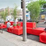 Ad-bloc parklet in Allston, MA. Credit: Interboro Partners