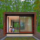 Studio for a Composer; Spring Prairie, WI by Johnsen Schmaling Architects (Photo: John J. Macaulay)