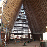 The interior can accommodate up to 700 people, and can be used for various church events.