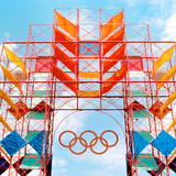 Sussman environmental design from the 1984 Olympics in Los Angeles, image via Metropolismag.com.